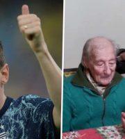 เมสซี่ อัดคลิปส่งข้อความขอบคุณแฟนบอลอายุ 100 ปี